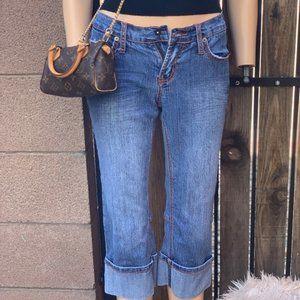 Lazer Rolled Up Leg Jeans - Size 3
